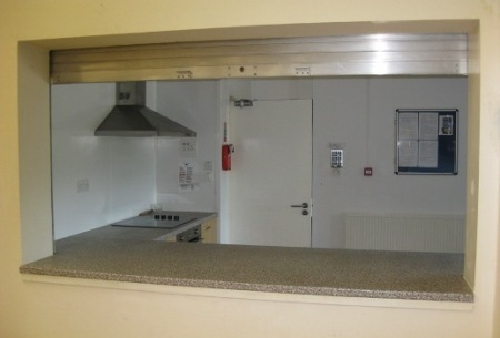 Serving Hatch Between Kitchen And Main Hall See Our Links Page If You Need To Hire Crockery Cutlery Etc